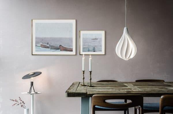 oświetlenie jadalni - lampa nad stołem